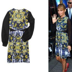 Nicole Richie for Impulse Pleated Peacock Dress S8